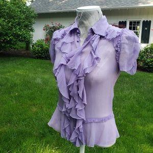 SOLD Gorgeous Ralph Lauren ruffled silk blouse